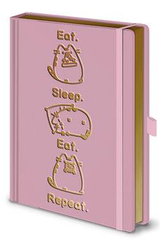 Bloco de notas Pusheen - Eat. Sleep. Eat. Repeat.