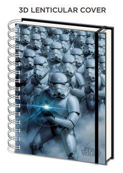 Bloco de notas Star Wars - Stormtroopers 3D Lenticular A5