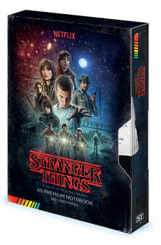 Bloco de notas Stranger Things - VHS