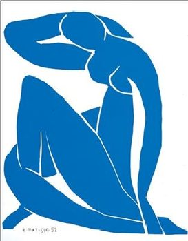 Blue Nude II, 1952 Reproduction d'art