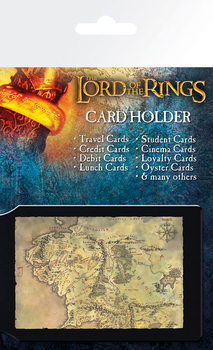 Bolsa para cartões O Senhor dos Anéis - mapa da Terra Média