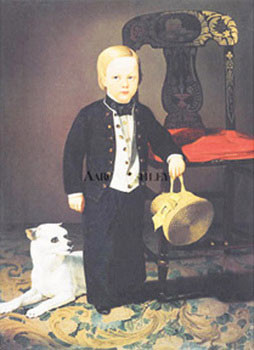 Boy With Dog Reproduction d'art