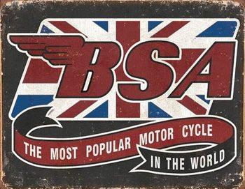 BSA - Most Popular Plaque métal décorée