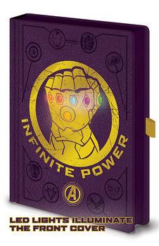 Caderno  Avengers: Infinity War - Gauntlet LED