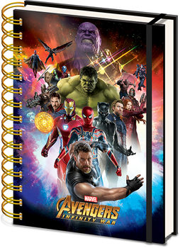 Caderno  Avengers: Infinity War - Space Montage Holographic
