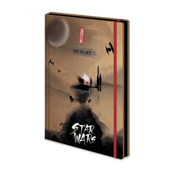 Caderno Diary 2021 - Star Wars - Japanese (EN)