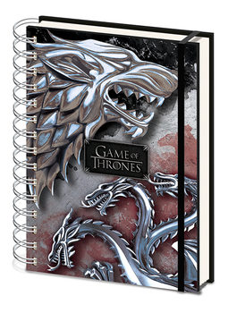 Caderno  Game Of Thrones - Stark & Targaryen Premium
