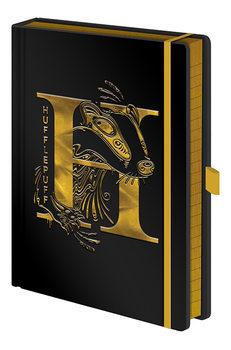 Caderno Harry Potter - Hufflepuff Foil
