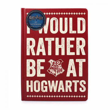 Caderno  Harry Potter - Rather Be At Hogwart