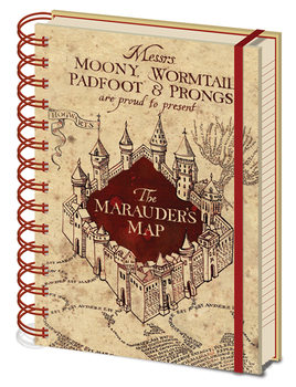 Caderno  Harry Potter - The Marauders Map