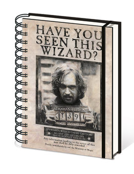 Caderno  Harry Potter - Wanted Sirius Black