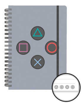 Caderno Playstation - Buttons