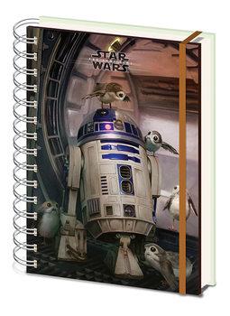 Caderno  Star Wars The Last Jedi - R2 D2 & Porgs