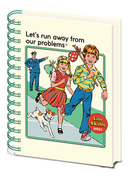 Caderno Steven Rhodes - Let's Run Away From Our Problems