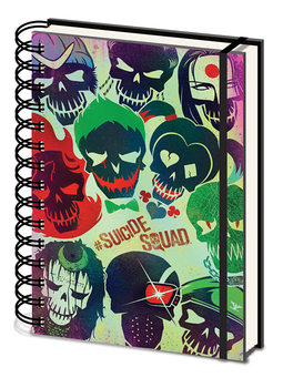 Caderno  Suicide Squad - Skulls