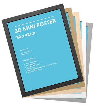 CadreCadre - 3D Mini Affiche 30x42 cm