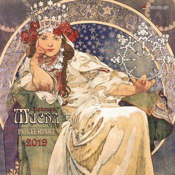 Calendar 2019  A. Mucha - Poster Art