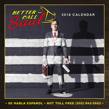Calendar 2018 Better Call Saul