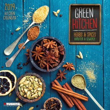 Calendar 2020  Green Kitchen - Herbs & Spices