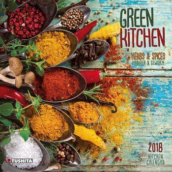 Calendar 2018 Green Kitchen