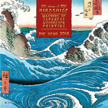 Calendar 2018 Hiroshige - Japanese Woodblock Painting