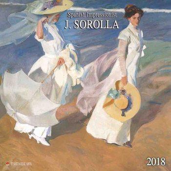 Calendar 2018 Joaquín Sorolla - Spanisch