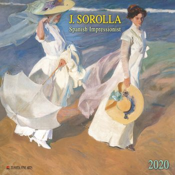 Calendar 2020  Joaquin Sorolla - Spanisch Impressionist