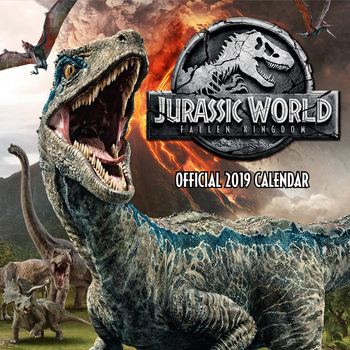 Calendar 2019  Jurassic World Fallen Kingdom