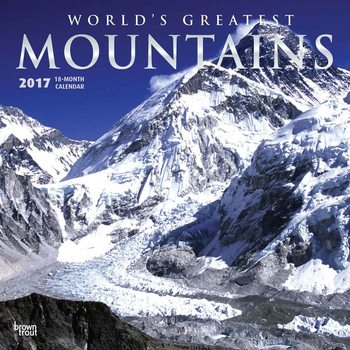 Calendar 2017 Mountains - Worlds Greatest
