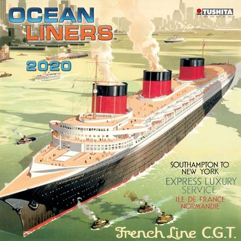 Calendar 2020  Ocean liners