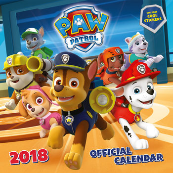 Calendar 2018 Paw Patrol