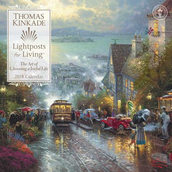 Calendar 2018 Thomas Kinkade - Lightposts for Living