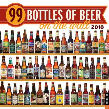 Calendário 2018  99 Bottles of Beer on the Wall