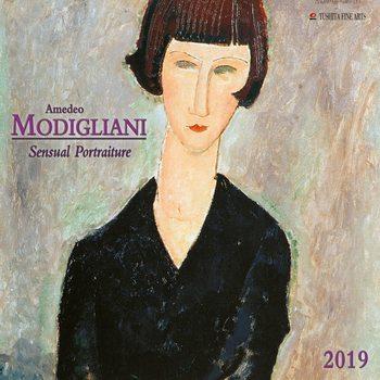 Calendário 2019  A. Modigliani - Sensual Portraits