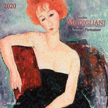 Calendário 2020  A. Modigliani - Sensual Portraits
