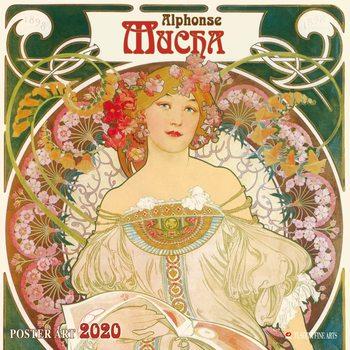 Calendário 2020  A. Mucha - Poster Art