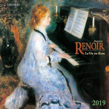 Calendário 2019  A. Renoir - La Vie en Rose