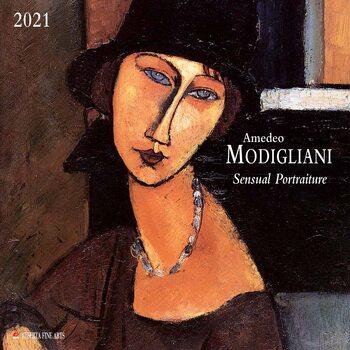 Calendário 2021 Amedeo Modigliani - Sensual Portraits