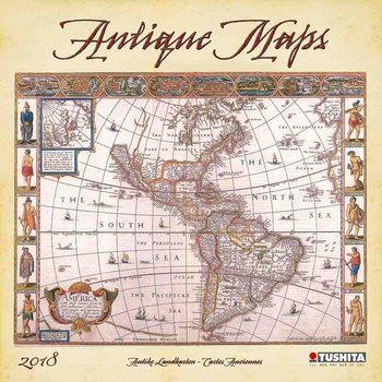 Calendário 2018 Antique Maps