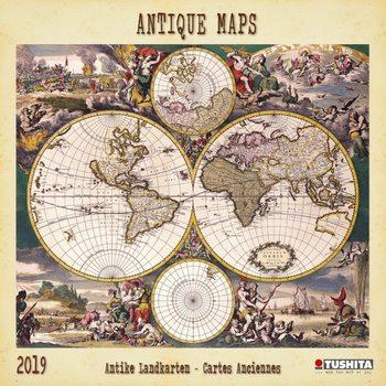 Calendário 2019  Antique Maps