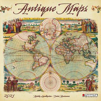 Calendário 2021 Antique Maps