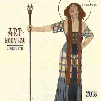Calendário 2018  Art Nouveau