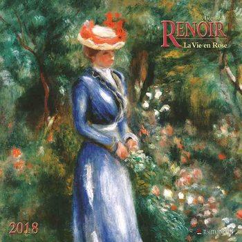 Calendário 2018  Auguste Renoir - La Vie en Rose