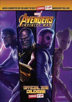 Calendário 2019  Avengers