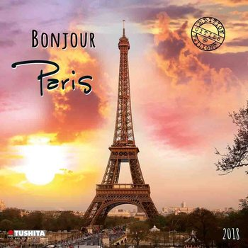 Calendário 2018 Bonjour Paris