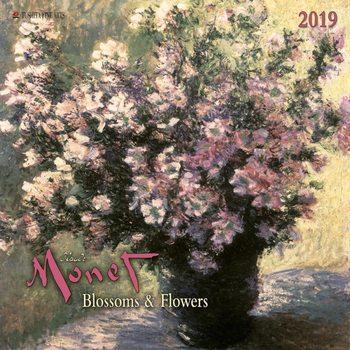 Calendário 2019  C. Monet - Blossoms & Flowers