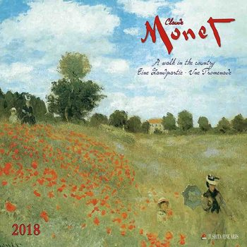 Calendário 2018 Claude Monet - A Walk in the Country