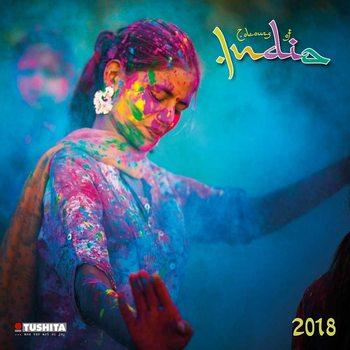 Calendário 2018 Colours of India