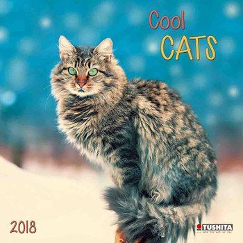 Calendário 2018 Cool Cats