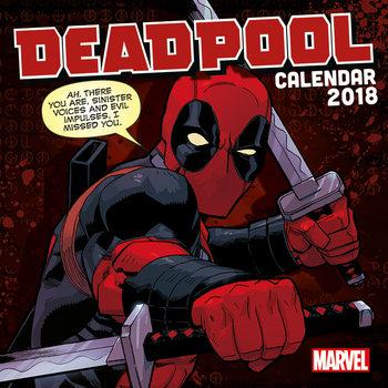 Calendário 2018 Deadpool